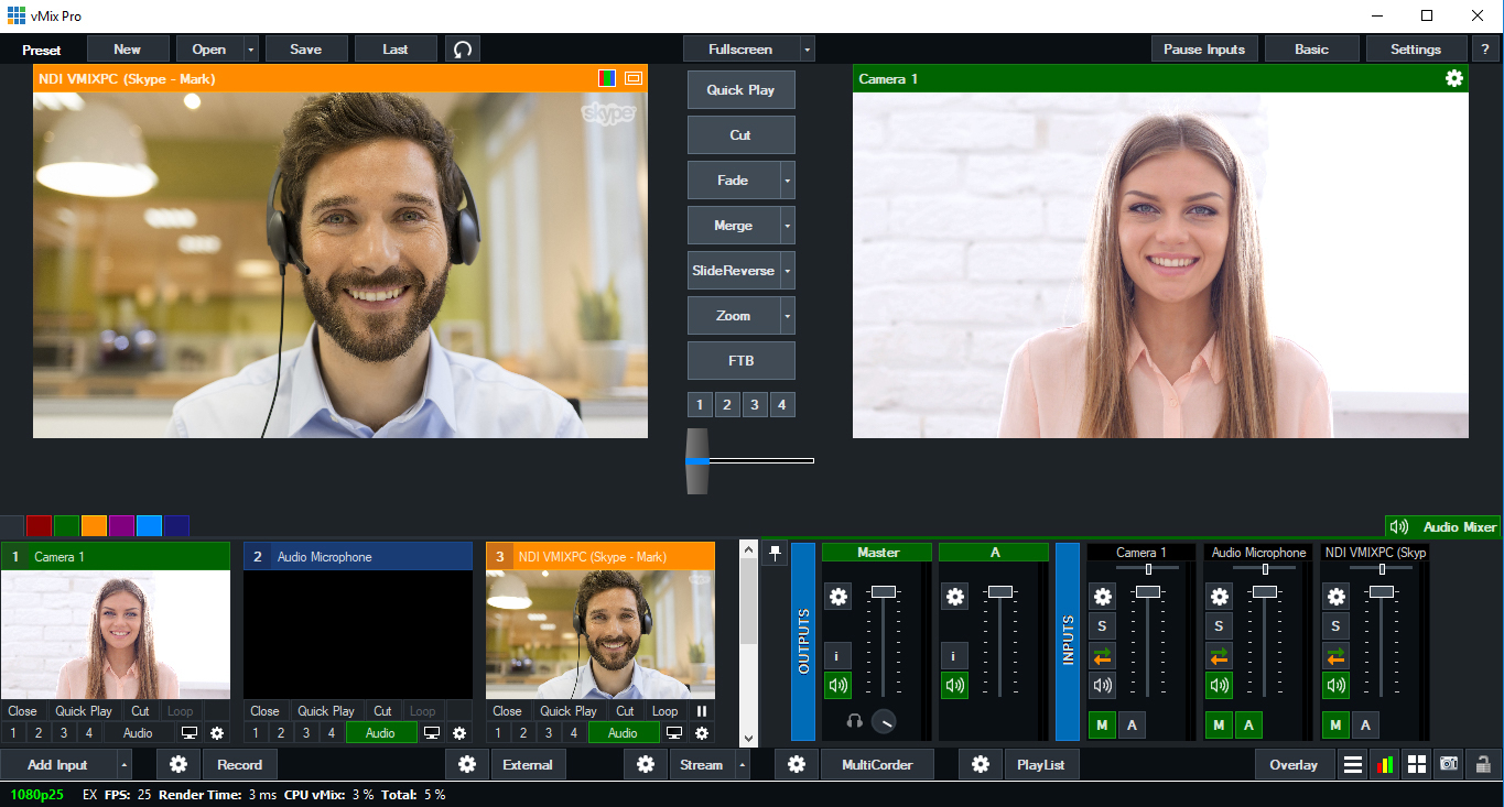 Adding Skype calls to vMix with return video and audio   vMix