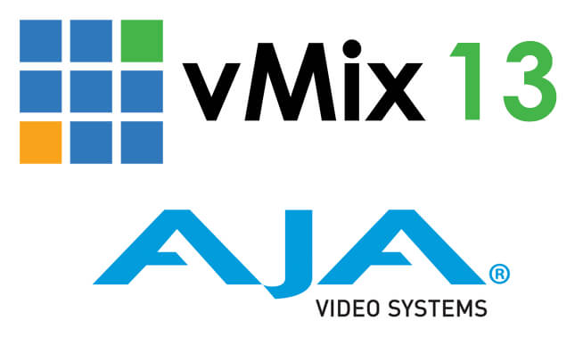 vMix announces version 13 with 4K input and output support for AJA devices